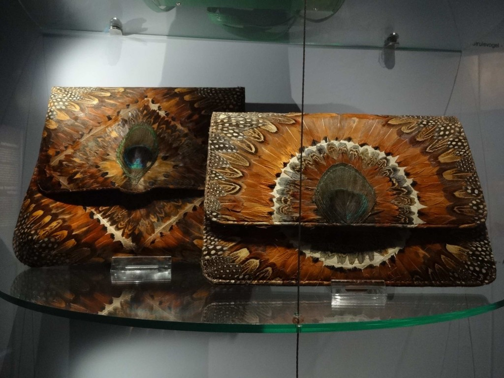Bags made from peacock feathers (just showing off now) ...