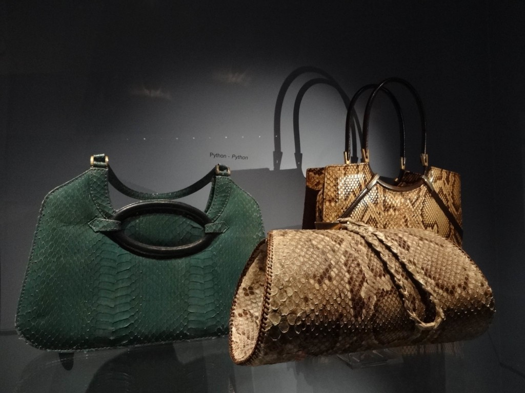 I don't believe any of these bags have been made from python skins. None of them look the least bit like Michael Palin or Eric Idle, although the green one looks vaguely like Terry Jones