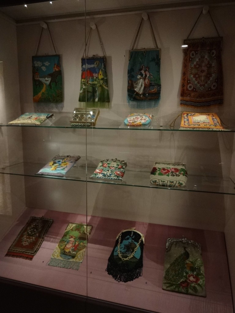 An average beaded bag or pouch from the nineteenth century used around 50,000 beads and took an experienced beader two weeks to knit making these bags an expensive and exclusive must-have item amongst ladies of society
