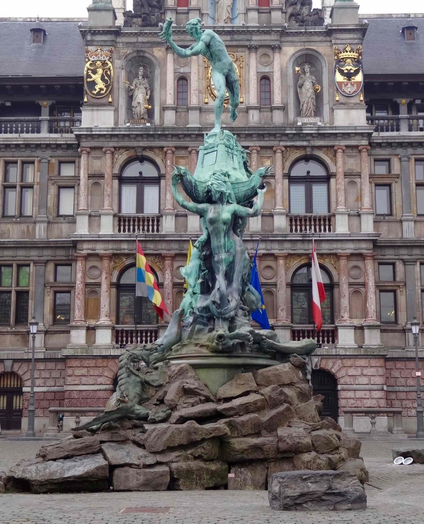 Antwerp, things to do in Antwerp, Grote Markt, Barbo fountain front