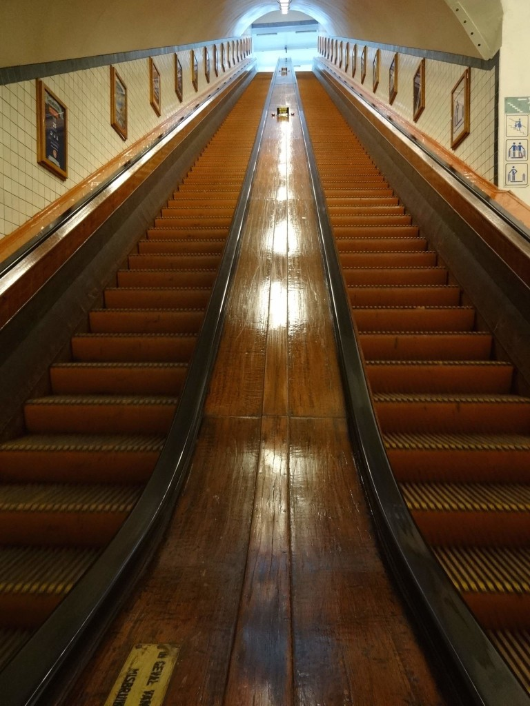 Although there are lifts/elevators that will take pedestrians, cyclists and their bicycles down to the tunnel, the original and rather gorgeous escalators are still in operation and are the preferred means of decent ...