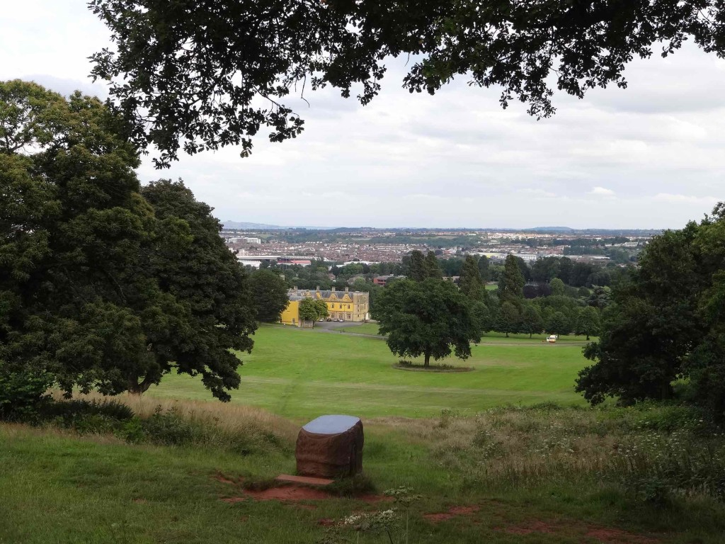 The view over the estate from the Gorams sculpture (the back of it seen here)