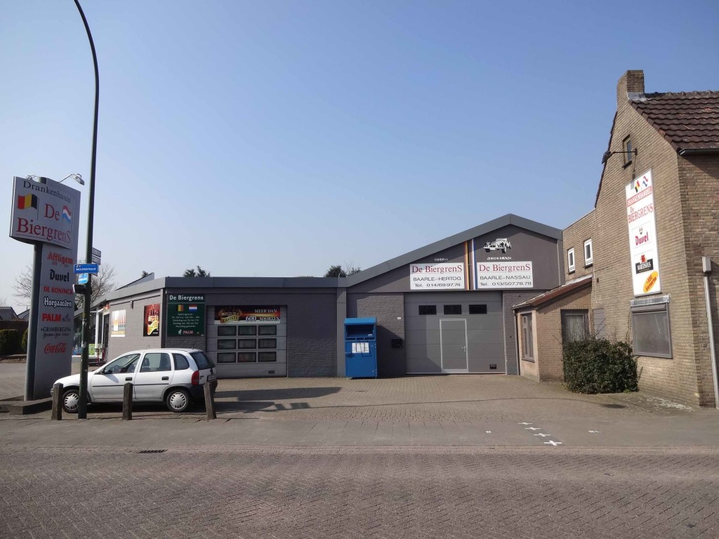 Another business in Baarle with dual nationality: De Biergrens wine and beer merchants