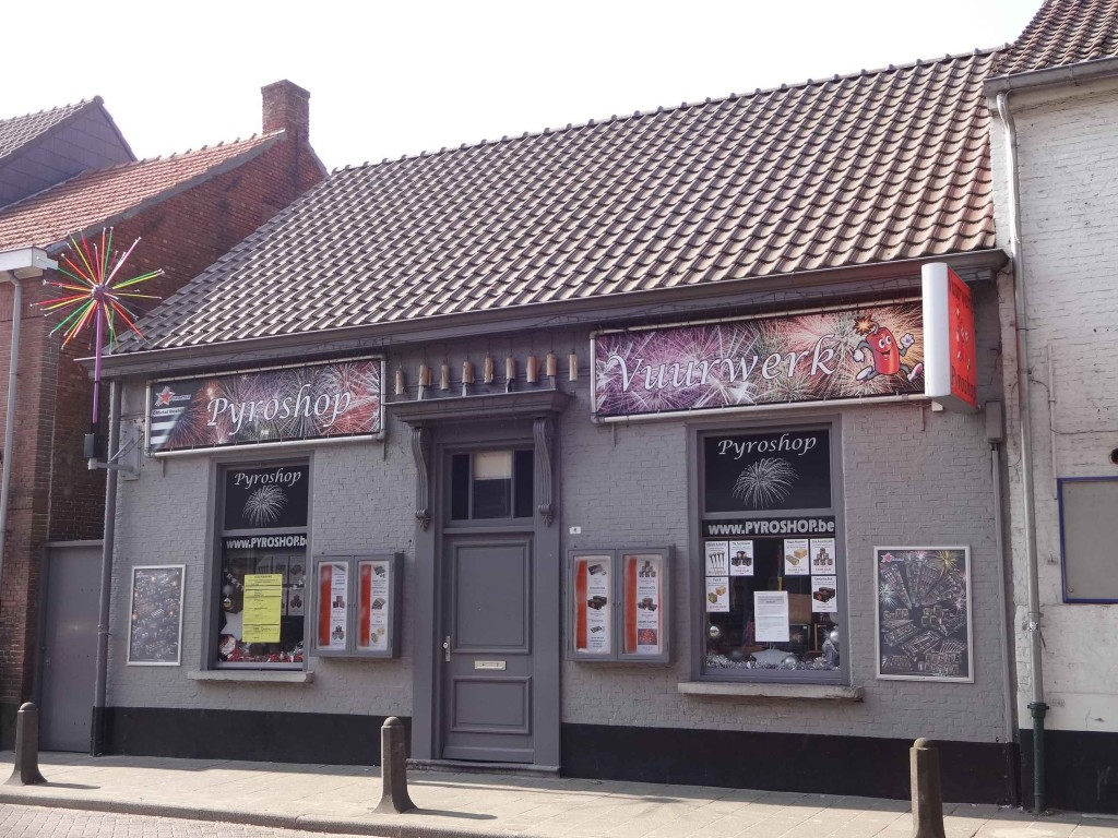 One of five shops I came across in Baarle Hertog dedicated to selling fireworks