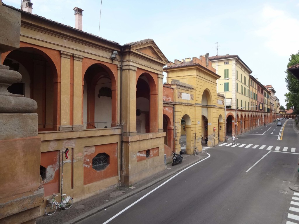 From the Meloncello Arch, about half way along the Portico di San Luca. The journey from here begins to get tougher ...