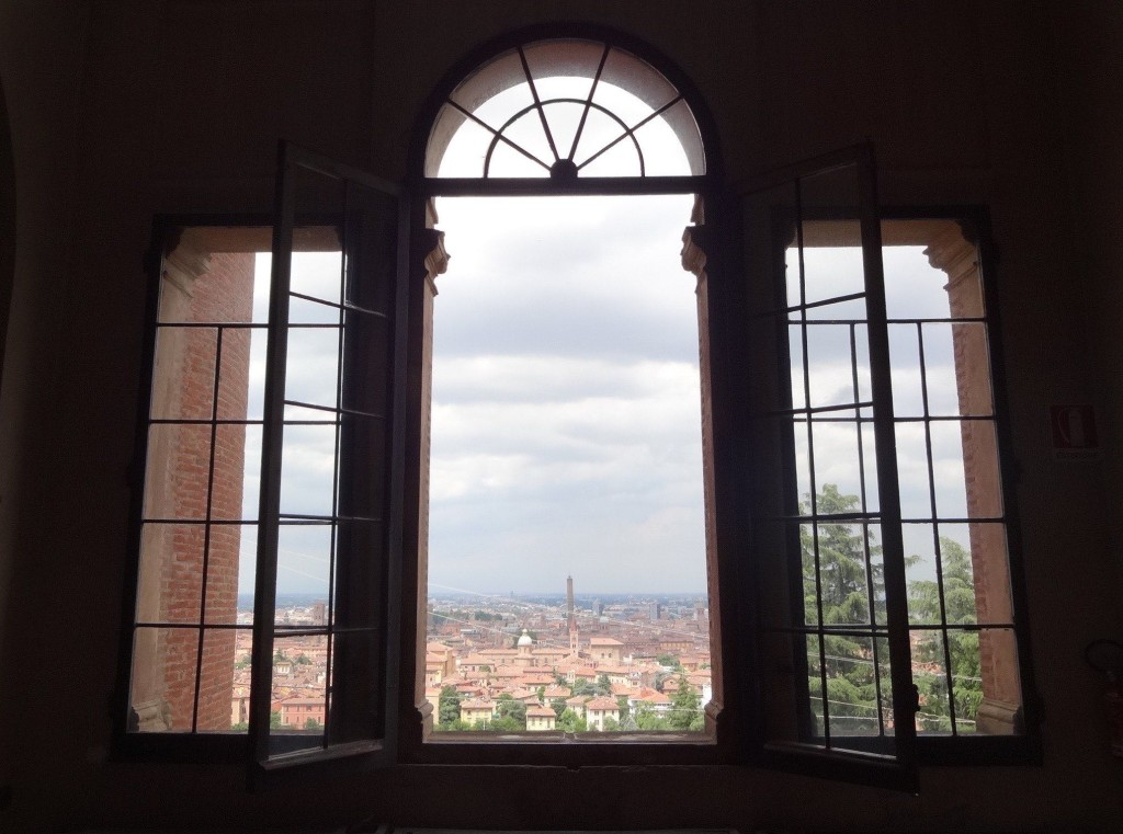 A more realistic view of Bologna seen through the top floor window of the Rizzoli Orthopaedic Institute
