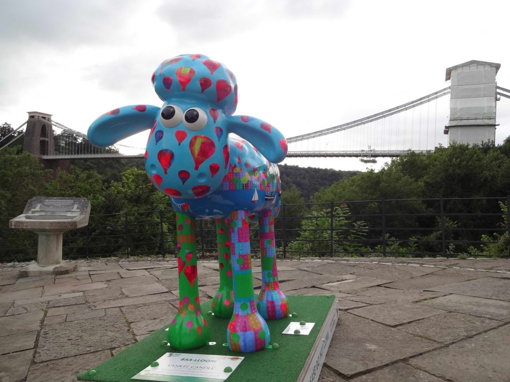 Bristol Shaun in the City, Brunel trail, Baa-lloon!, Jenny Urquhart, Yankee Candle, Sion Hill, close