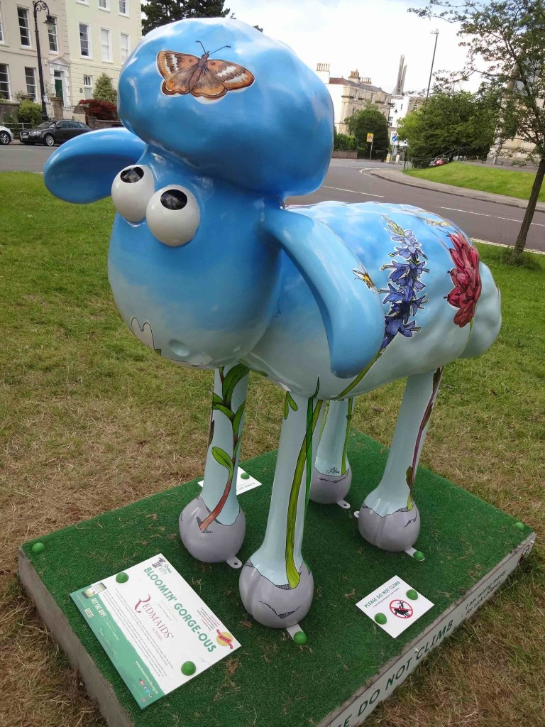 Bristol Shaun in the City, Brunel trail, Bloomin' Gorge-ous, Professor Alice Roberts, The Red Maids' School, Christchurch Green Clifton, side