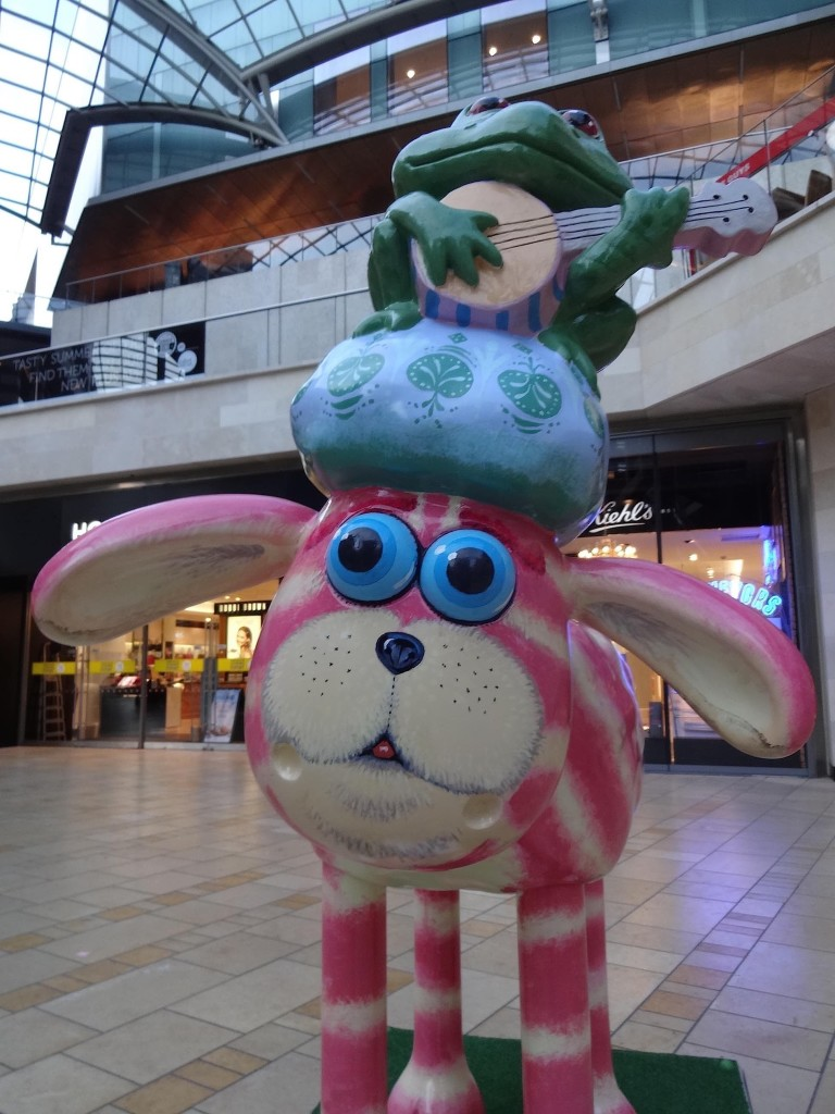 Bristol Shaun in the City, Old City trail, Bagpuss Shaun, Peter Firmin, Cabot Circus, face