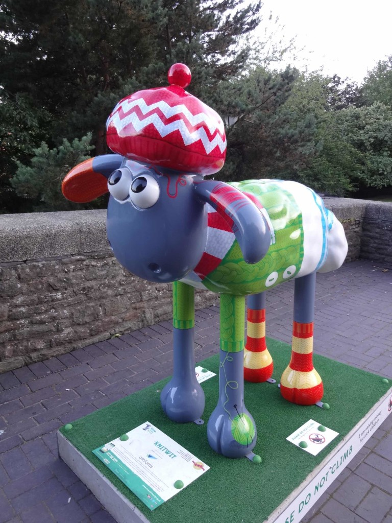 Bristol Shaun in the City, Old City trail, Knitwit, Adrian Barclay, Ashfords LLP, Castle Park near St Peter's Church