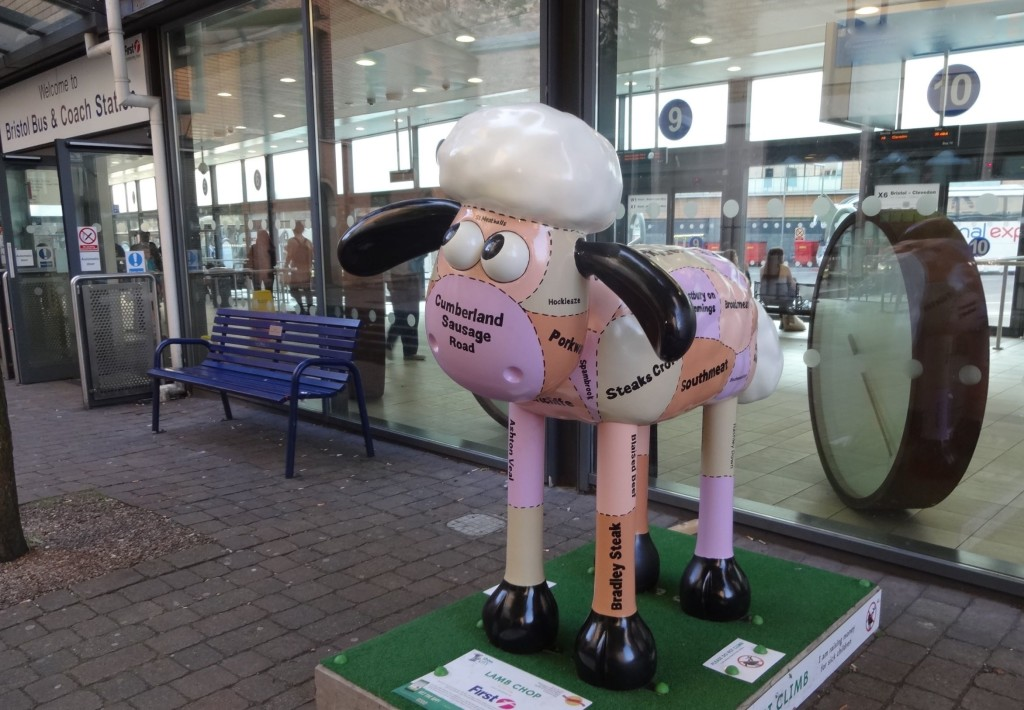 Bristol Shaun in the City, Old City trail, Lamb Chop, Duncan Craig, First West of England, Bristol Bus Station