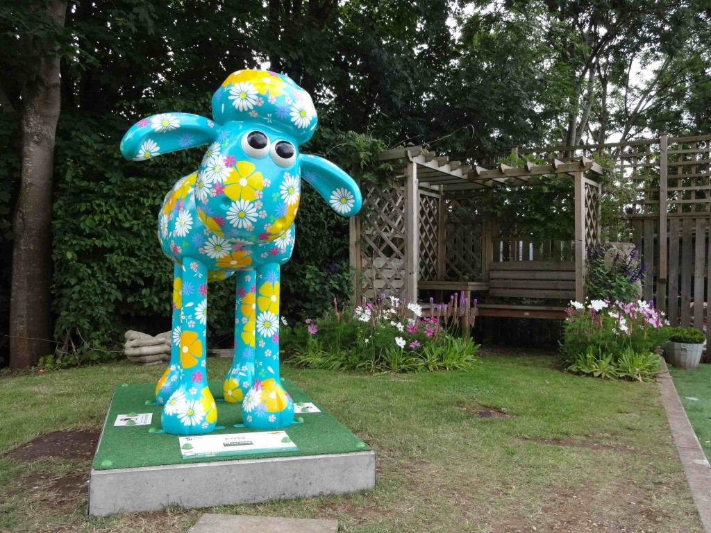 Bristol Shaun in the City, Southbank trail, Posy, Gabrielle Ruffle, Riverside Garden Centre, Clift House Road