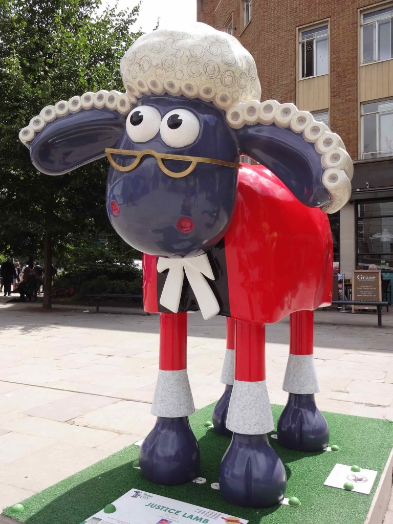 Bristol Shaun in the City, Temple trail, Justice Lamb, Mike Ogden, St John's Chambers, Queen Square, above