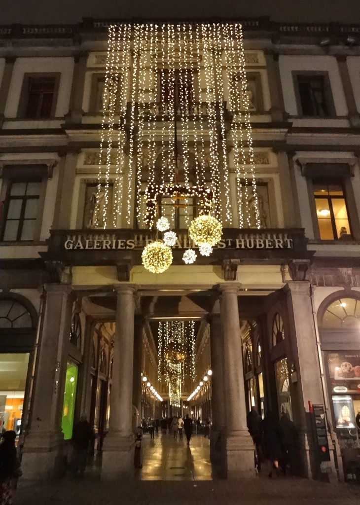 Brussels' Galeries St Hubert during the festive period