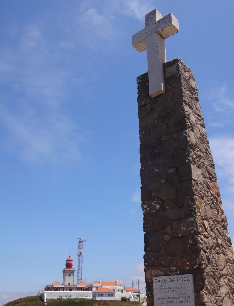 CabodaRoca, cross at point close up with lighthouse
