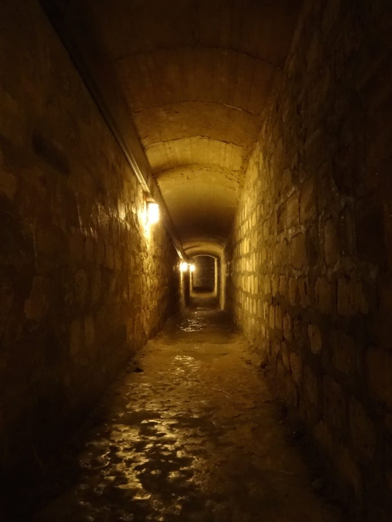 The further down one goes, the narrower the tunnels get