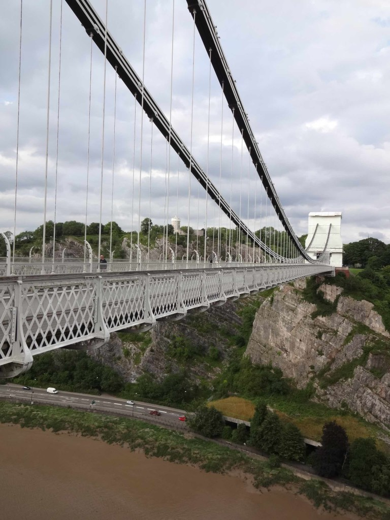 Clifton Suspension Bridge view across to Observatory, Bristol