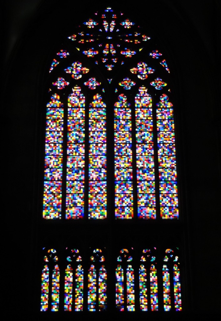 Gerhard Richter's recent stained-glass window installation in the transept of the Dom, made up of over 11,000 squares in 72 different colours