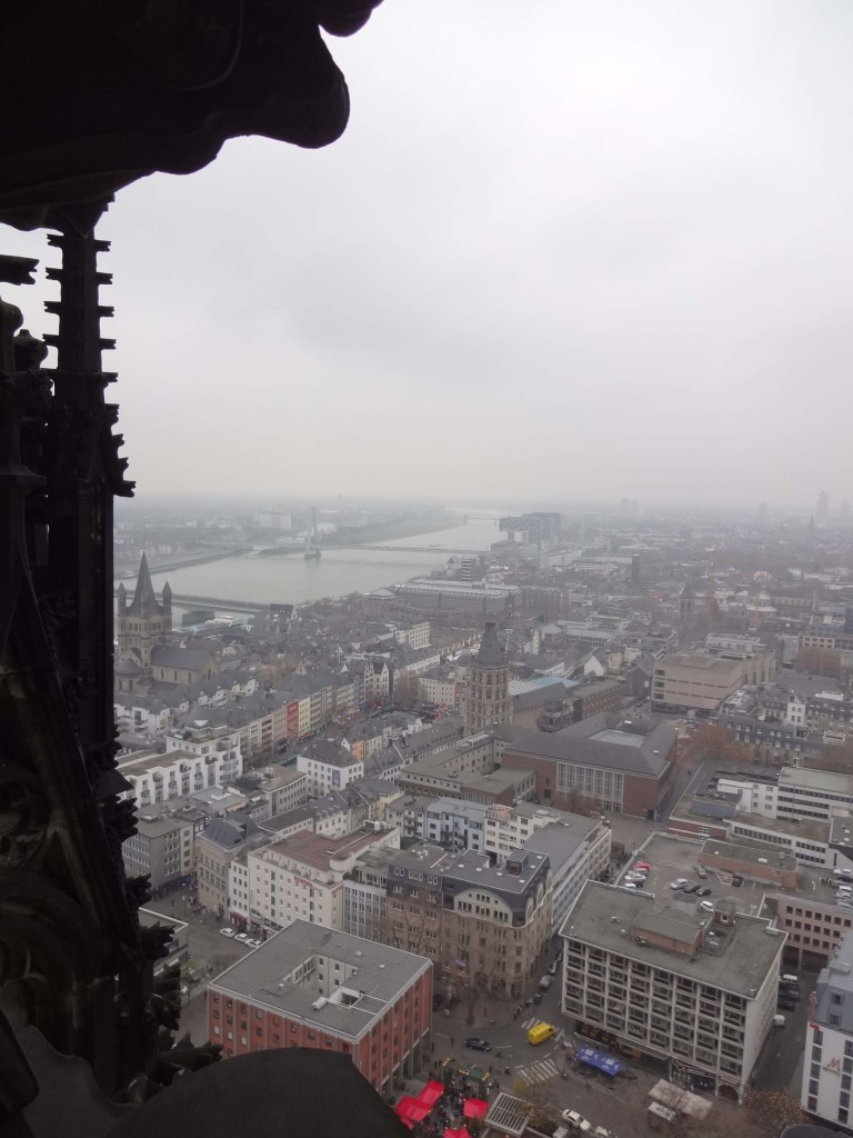 Looking south across Cologne