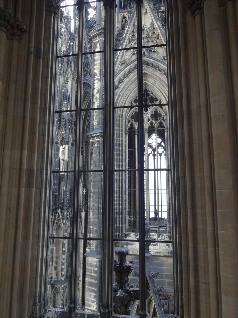 Looking across into the north tower of the Dom