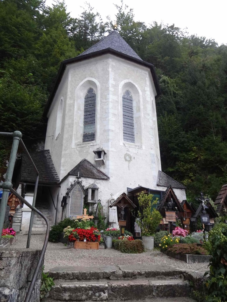 Underneath this small chapel is Hallstatt's Beinhaus which has stood here since the twelfth century