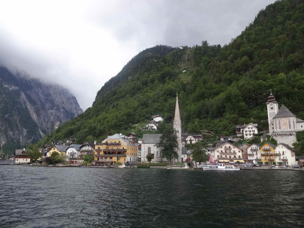 Approaching Hallstatt by ferry
