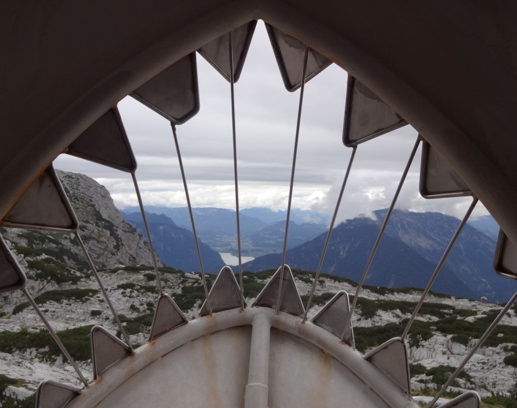 The view across the Salzkammergut from inside the Dachstein Shark
