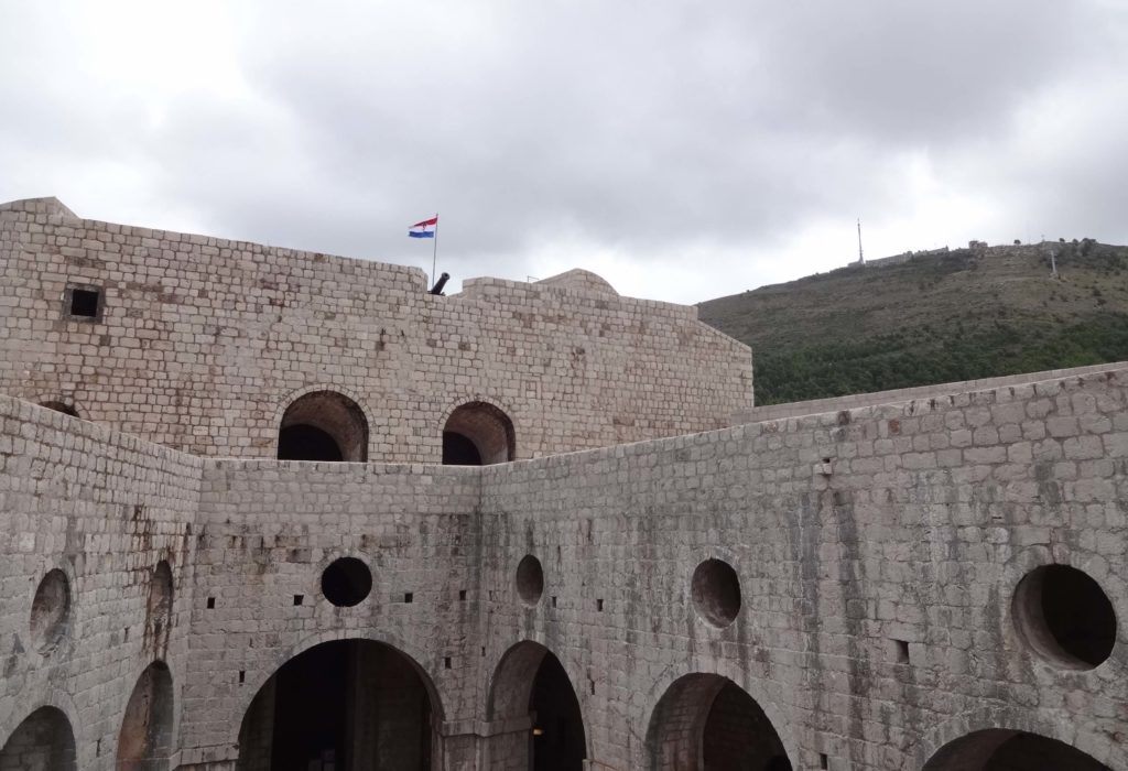 Fort Imperial seen from Fort Lovrijenac, both forts seeing their fair share of battles