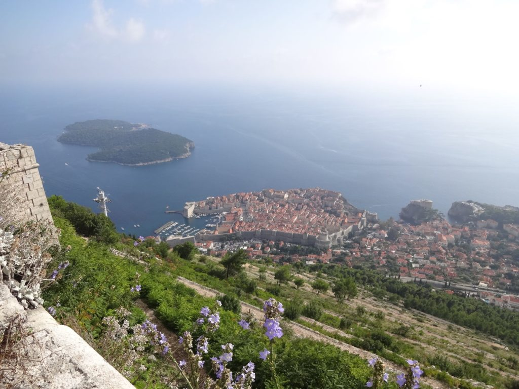 The Old Town and the island of Lokrum from the walls of Fort Imperial