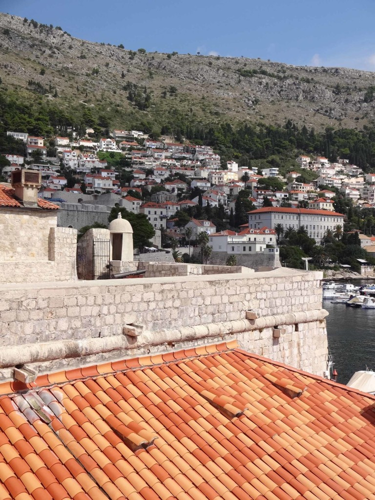 The hillside settlement of Ploče seen at its best as the path turns inland past the Old Port and Ploče Gate ...