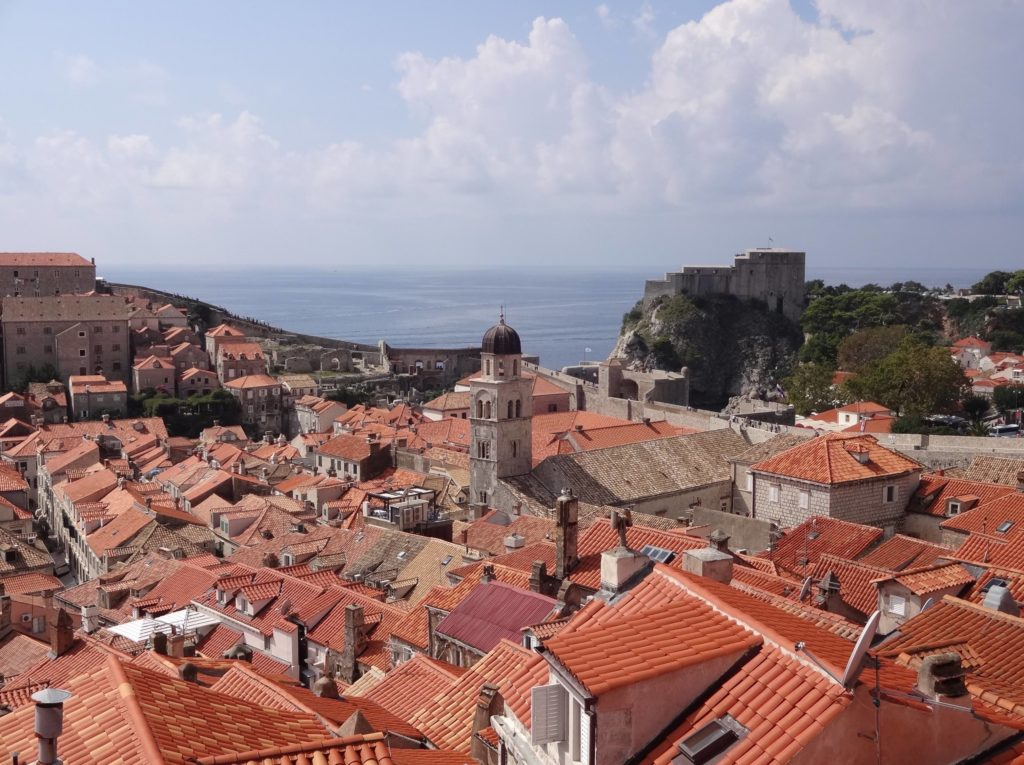 Dubrovnik's medieval Old Town, with its not so old roofing tiles