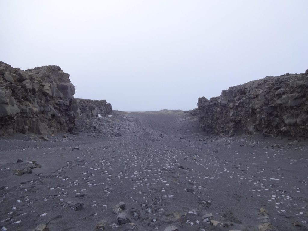 I quickly retreated from the North American plate to No Man's Land just in case I was suddenly arrested for being an illegal alien