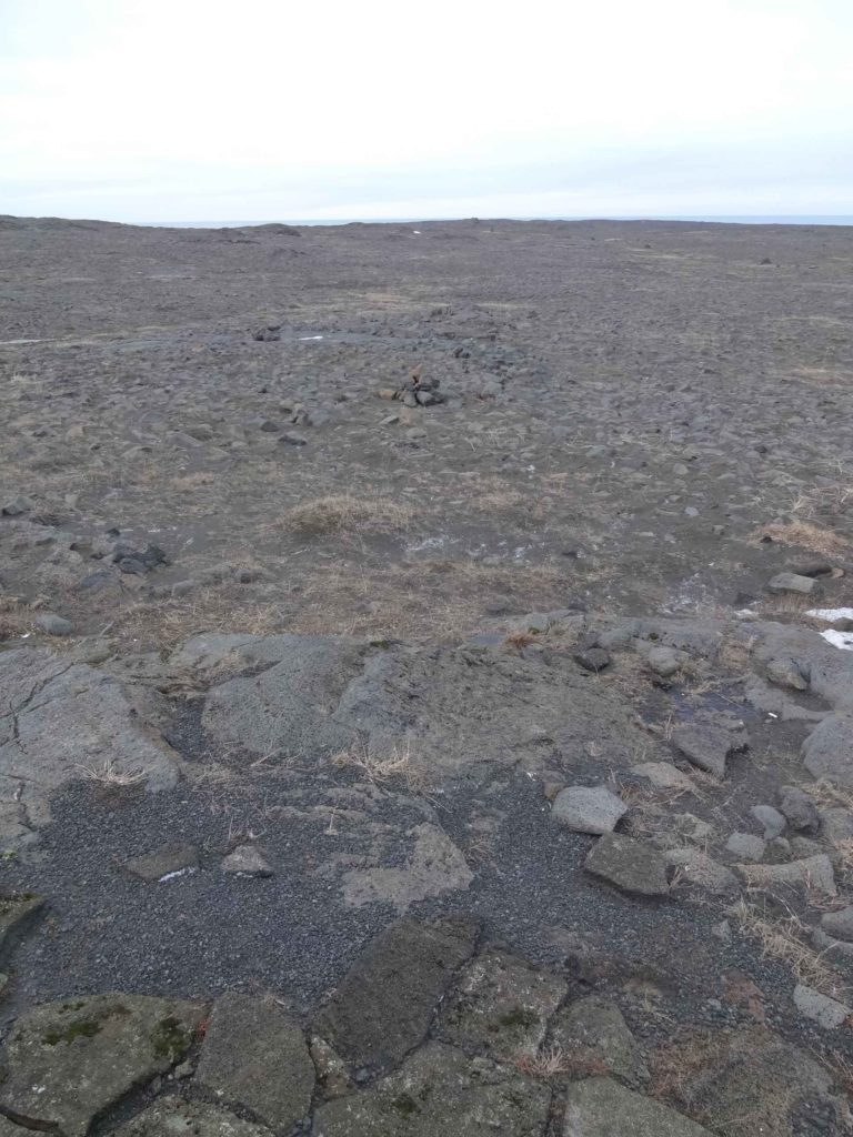 Lava fields as far as the eye could see (weather permitting)