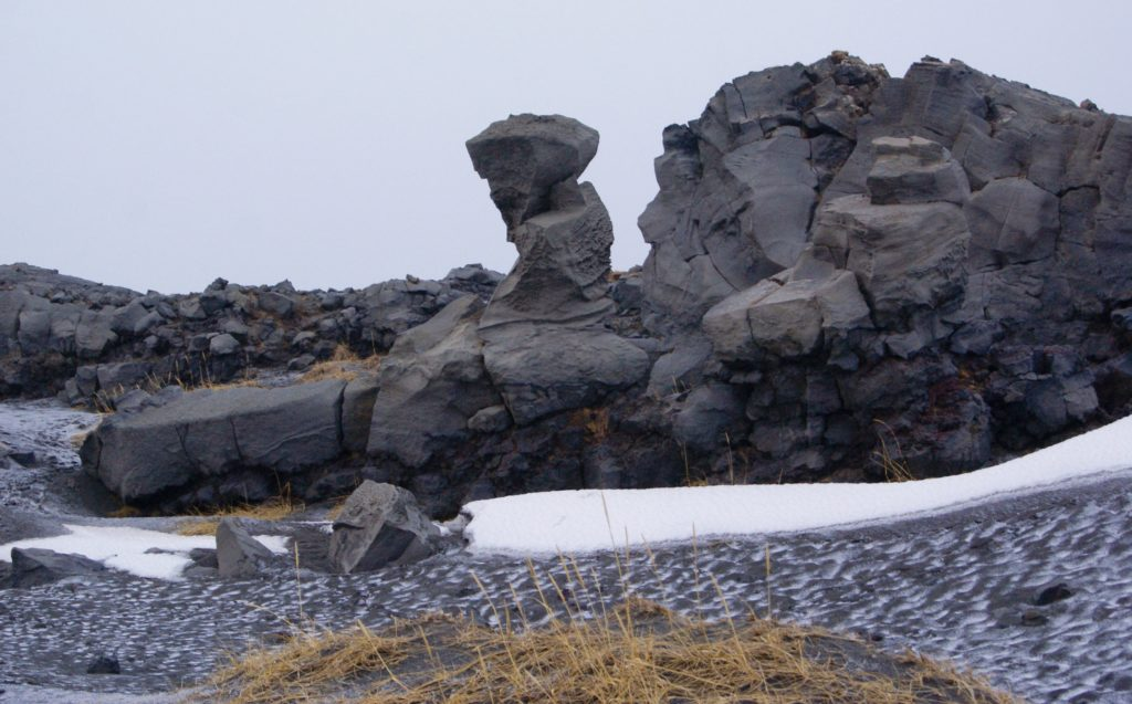 That rock formation looks like a disapproving hillbilly