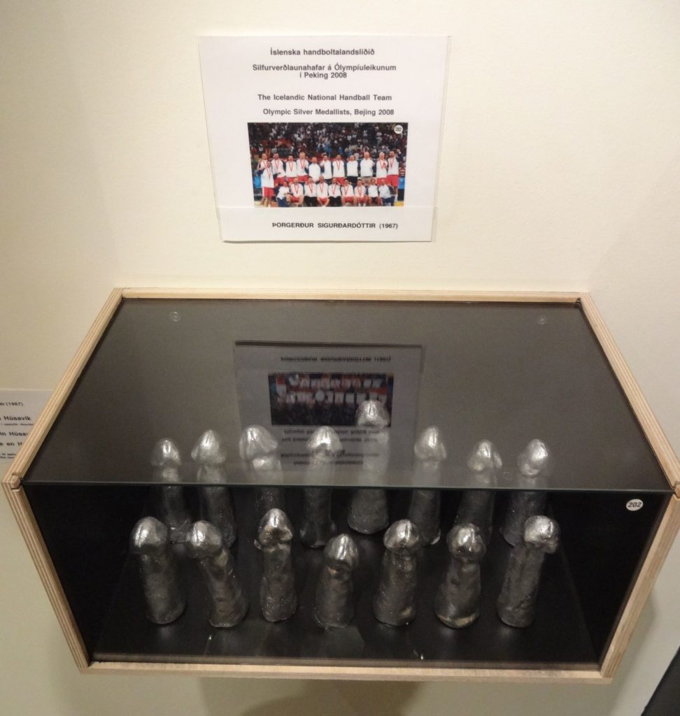 Possibly the oddest display of all at the museum is this: casts of all fifteen members of ... er... the members of Iceland's National Handball team. They won silver at the 2008 Beijing Olympics