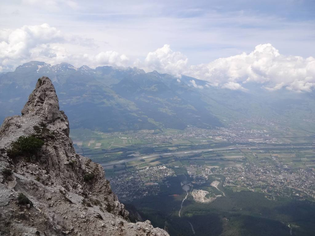 Some Liechtenstein tourist information websites use images of hikers enjoying the view whilst standing precariously on this little peak. I'm sure the view is marvellous from it