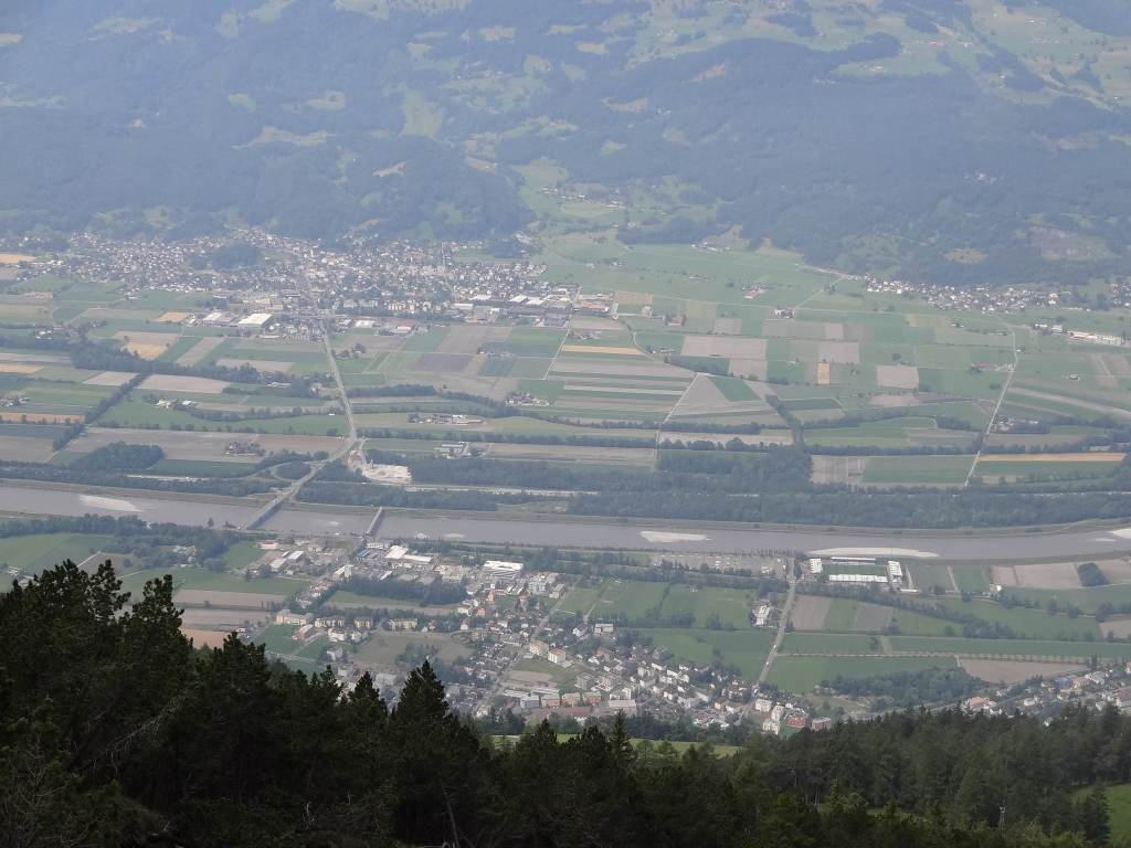 ... and the views over Vaduz, the Rhine and Switzerland beyond became more breath-taking