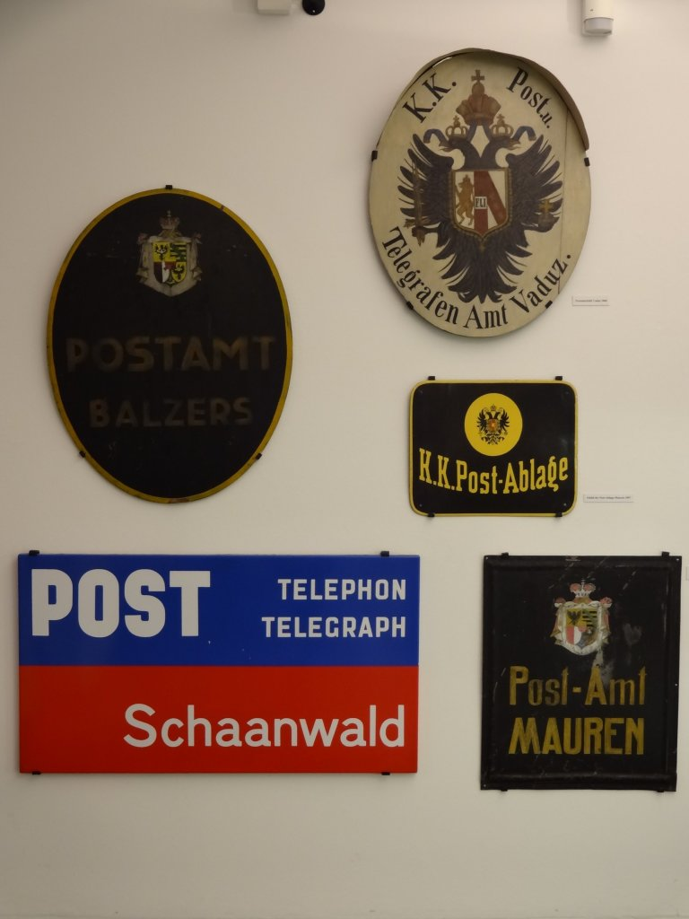 There were original post office signs on display ...