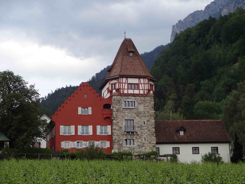 The Rotes Haus (Red House) looking over one of the largest vineyards in the country