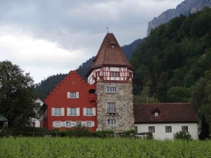 Liechtenstein Rotes Haus Red House from the front
