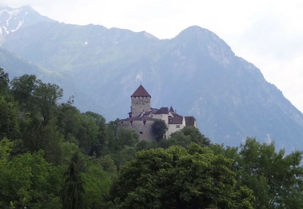 At last! After nearly three hours walking down from Gaflei, I was back in Vaduz with its Bond-villain-lair style castle up on the hill ...