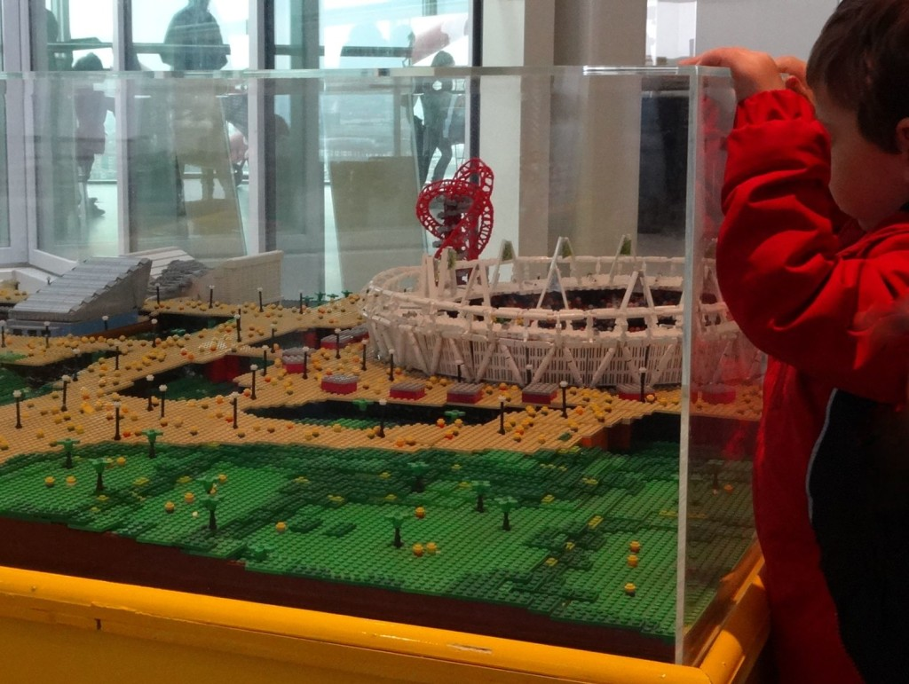 The model may be small in LEGO model terms, but it's still gigantic to some spectators