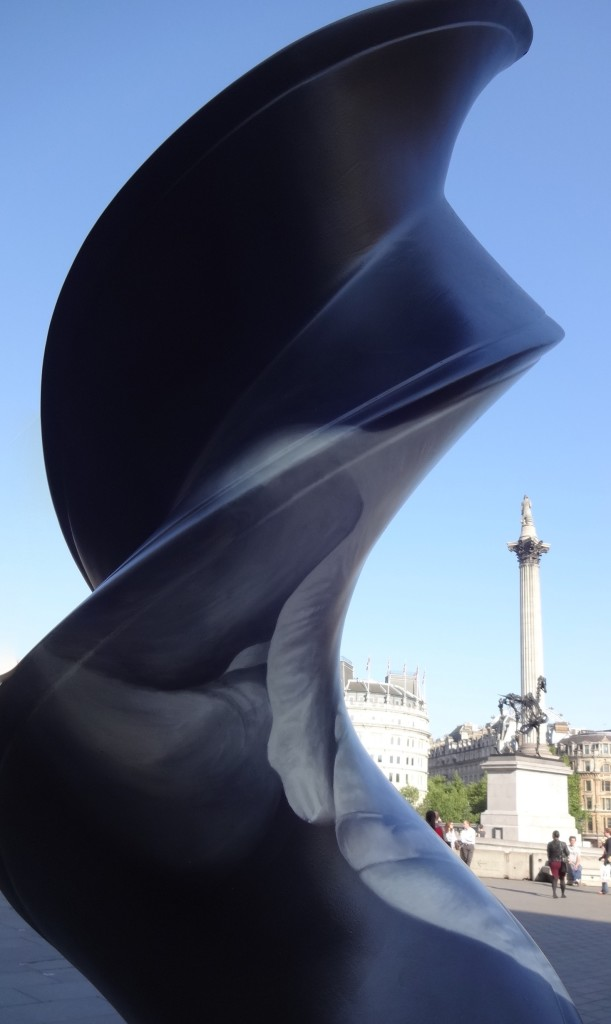 London Cancer Research UK's London Art Trail 2015 What's in your DNA, Life Darren Baker, Trafalgar Square, close up with Nelson's Column