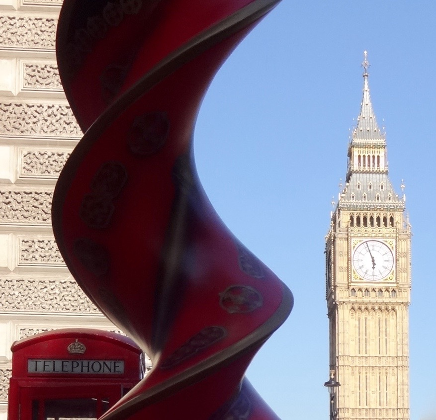 No prizes for guessing where this helix sculpture is