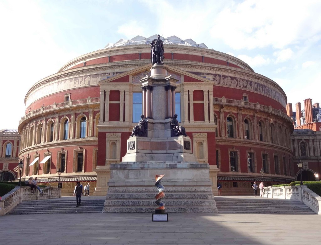 London Cancer Research UK's London Art DNA Trail 2015 What's in your DNA, The Journey, Guy Portelli, Royal Albert Hall South Steps, landscape