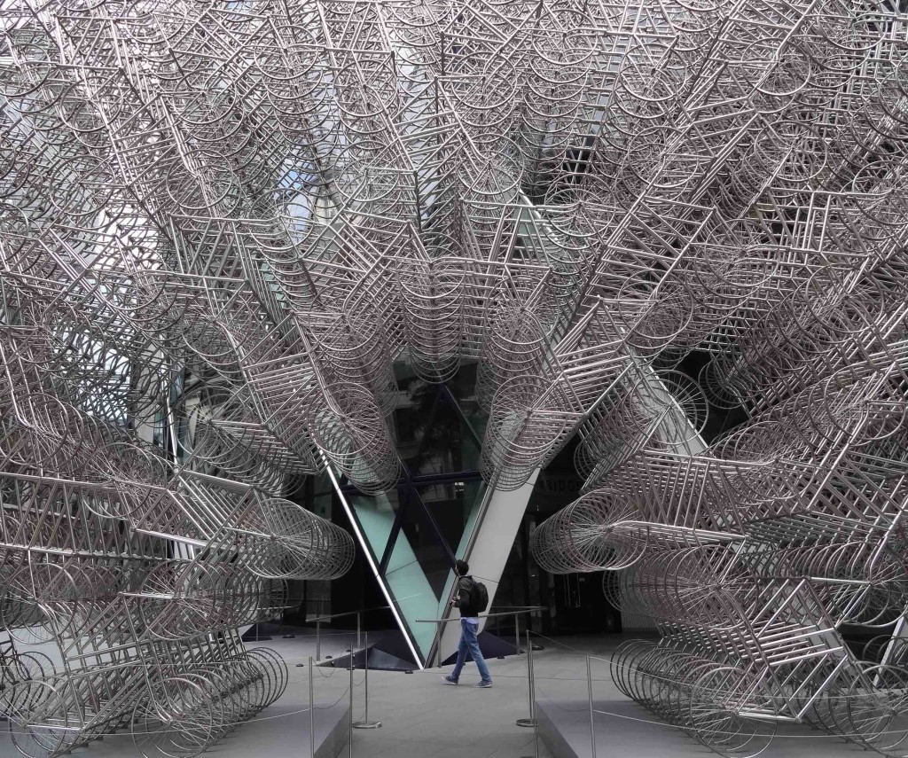 A late comer to the project, installed in September 2015 (to coincide with Ai Weiwei's visit to the city) ... but well worth the wait