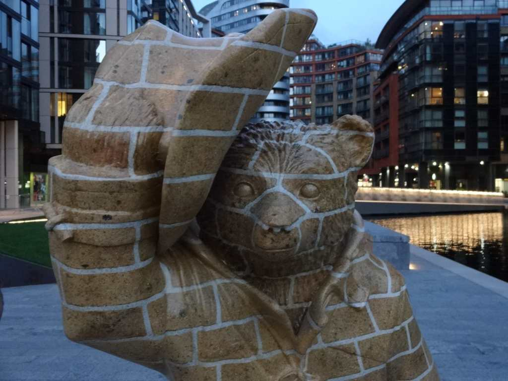 An odd looking Paddington who appears to have a beak