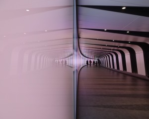 Lumiere London King's Cross, Artichoke Project, Mayor of London, King's Cross Tunnel, Allies and Morrison Speirs + Major, pink reflection