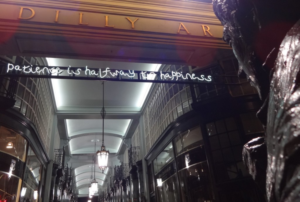 ...and from the Jermyn Street end, Beau Brummell appears to be embracing the message