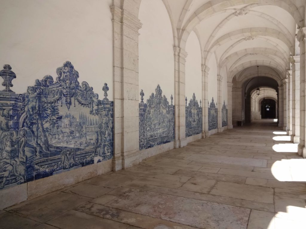 Every spare wall of the monastery's cloisters is covered in these stunning hand-painted tiles